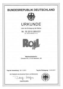 RoilGold_Markenurkunde_1